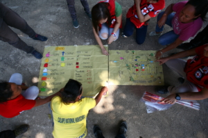 The Philippine Red Cross engages communities to better prepare for and cope with the impact of disasters and health hazards
